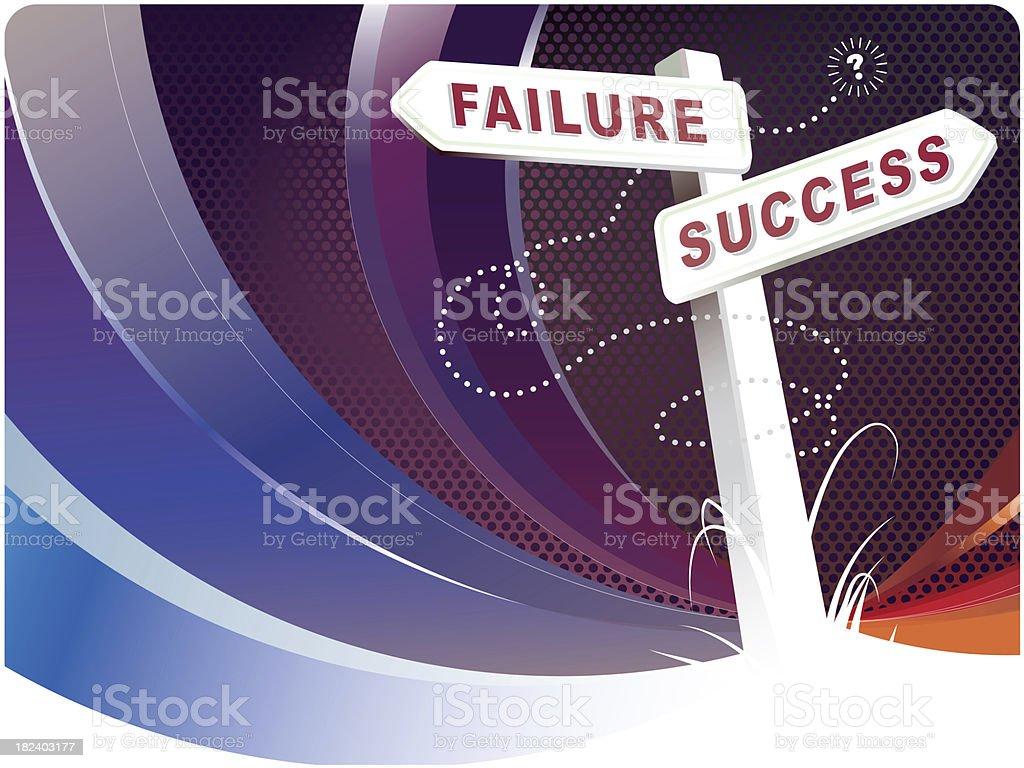 Crossroads of Failure and Success stock photo