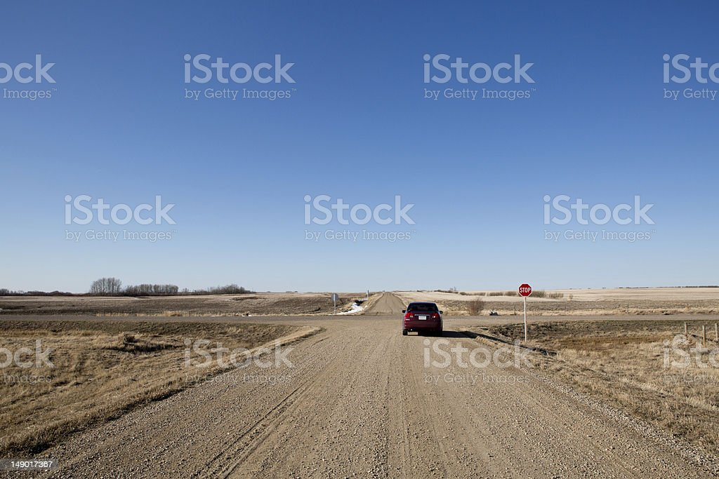 Crossroads stock photo