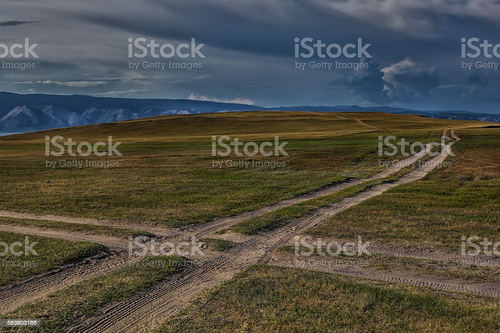 Crossroads stock photo