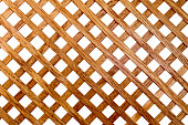 Cross-shaped pattern of oak wood slats