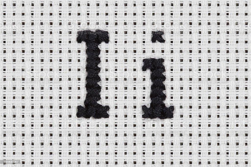 Cross-stitch - Alphabet and Icons: Ii stock photo