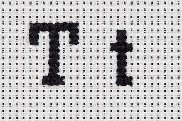 Cross-stitch - Alphabet and Icons: Tt stock photo