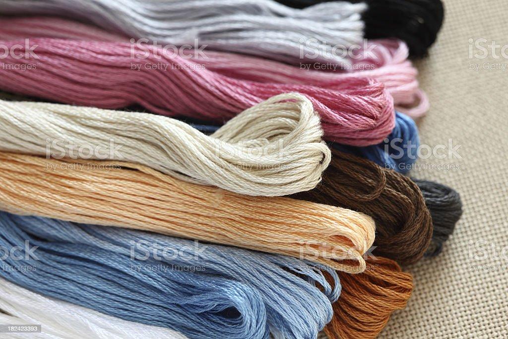 Cross-Stitch Threads royalty-free stock photo