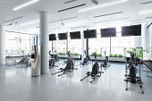 Crosstrainer inside a Fitness Center- 3d visualization