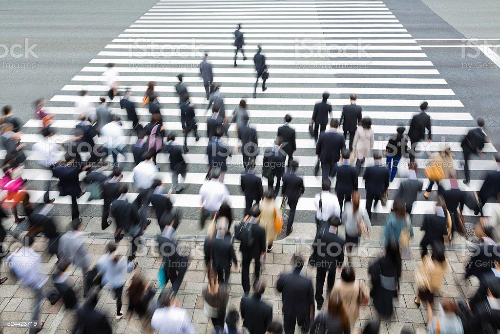 Crosswalk of the Rush Hour stock photo