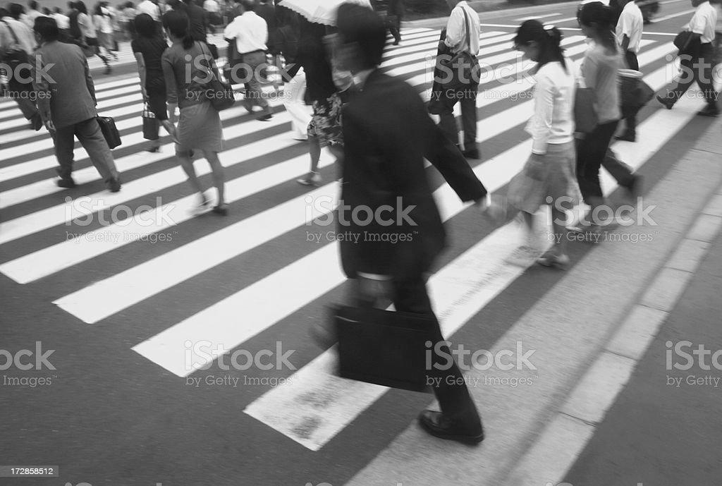 Crosswalk royalty-free stock photo
