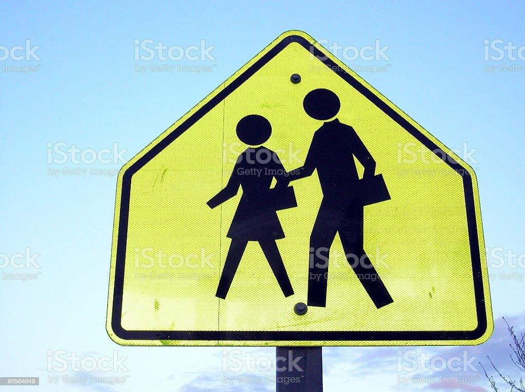 Crosswalk Sign royalty-free stock photo