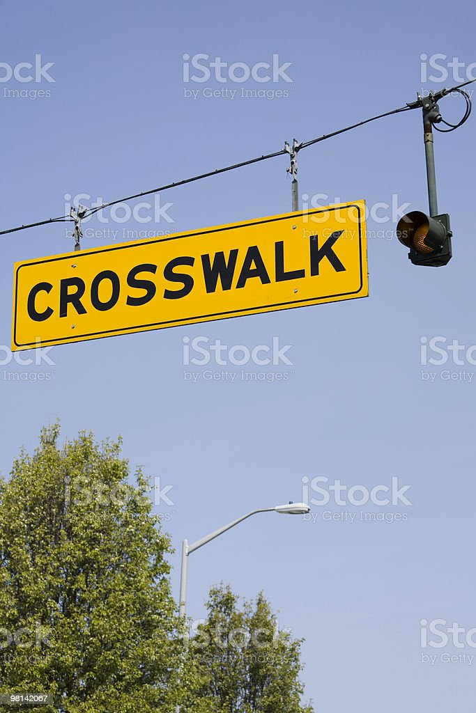 Crosswalk sign royalty-free stock photo