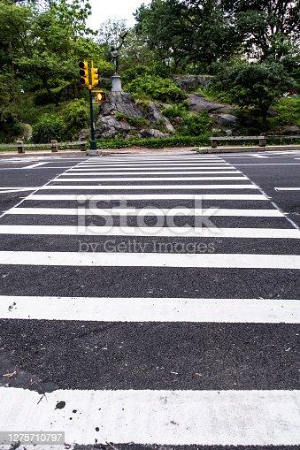The crosswalks of the park