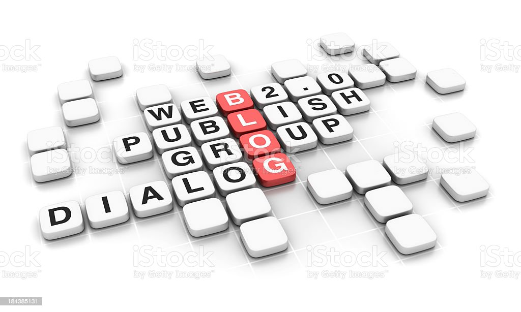 Crossword: Blog stock photo