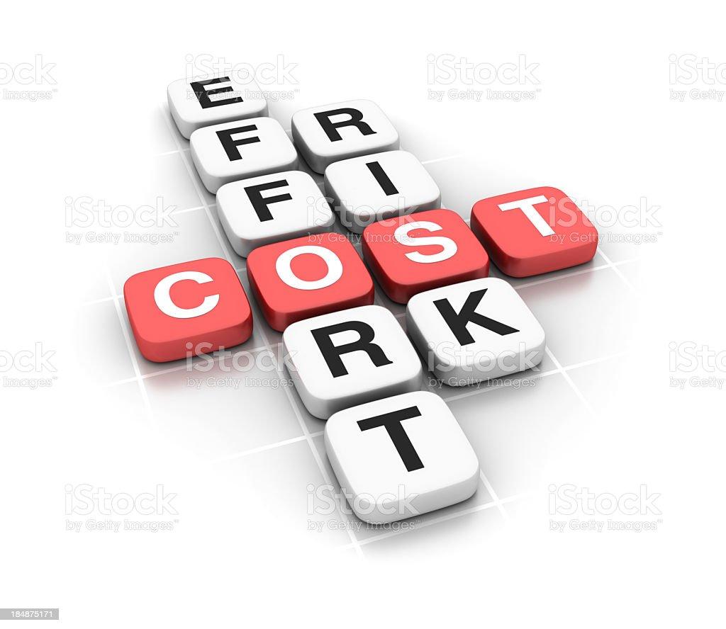 Crossword: COST royalty-free stock photo