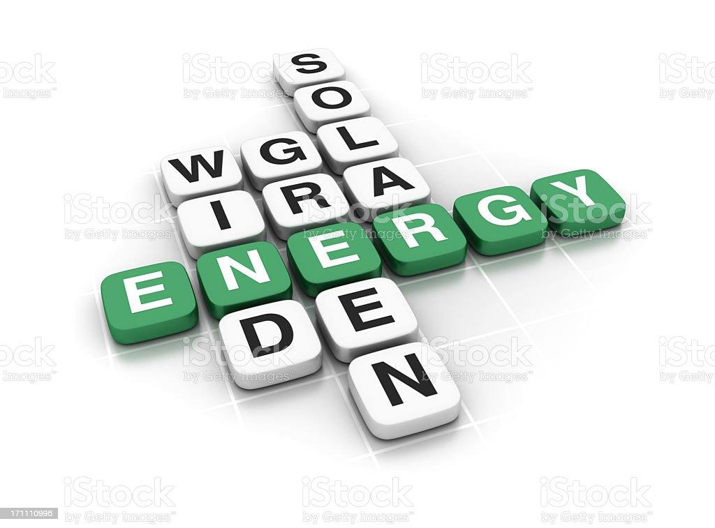 Crossword: ENERGY royalty-free stock photo