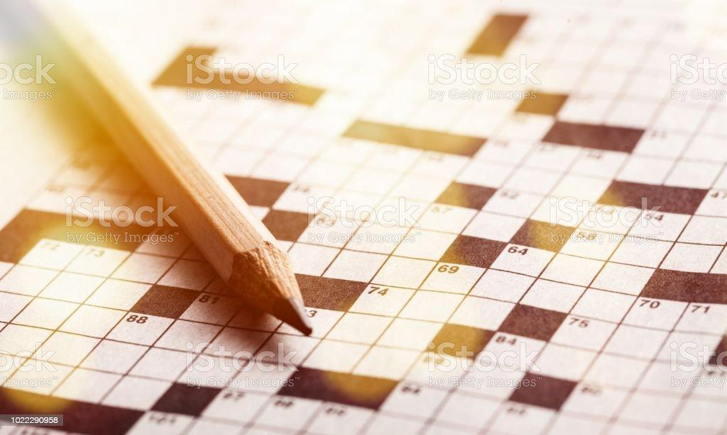 Kreuzworträtsel. – Foto