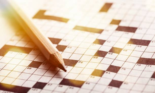 Crossword. stock photo