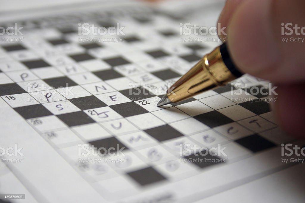 crossword royalty-free stock photo