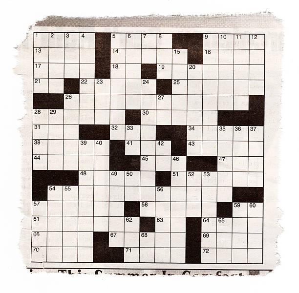 Crossword Puzzle Background XXXL stock photo