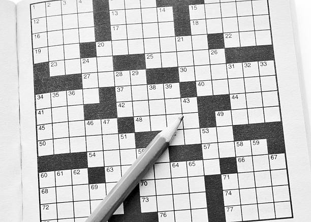 crossword puzzle - word game stock pictures, royalty-free photos & images