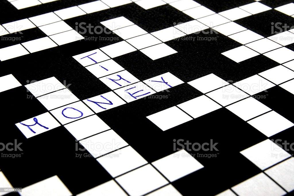 crossword puzzle - Royalty-free Alphabet Stock Photo