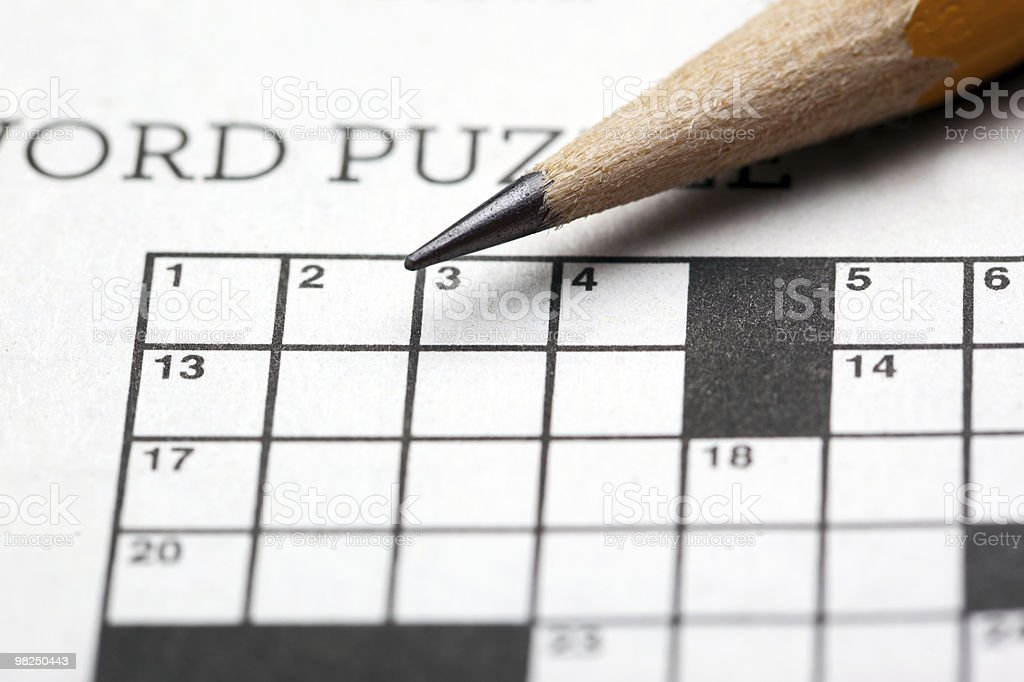 Crossword puzzle-first row royalty-free stock photo