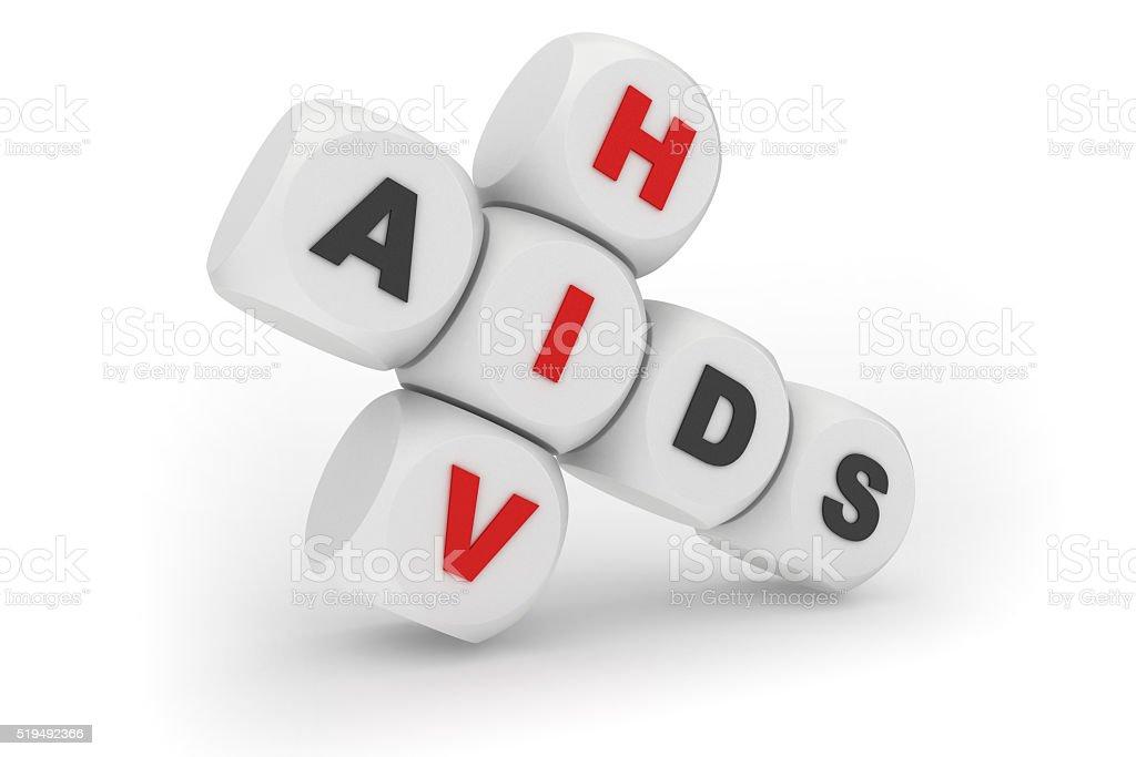 HIV AIDS crosswords stock photo