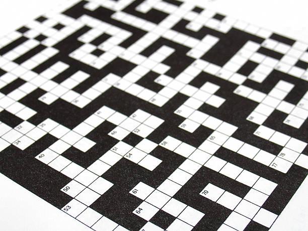 crosswords - kreuzworträtsel lexikon stock-fotos und bilder