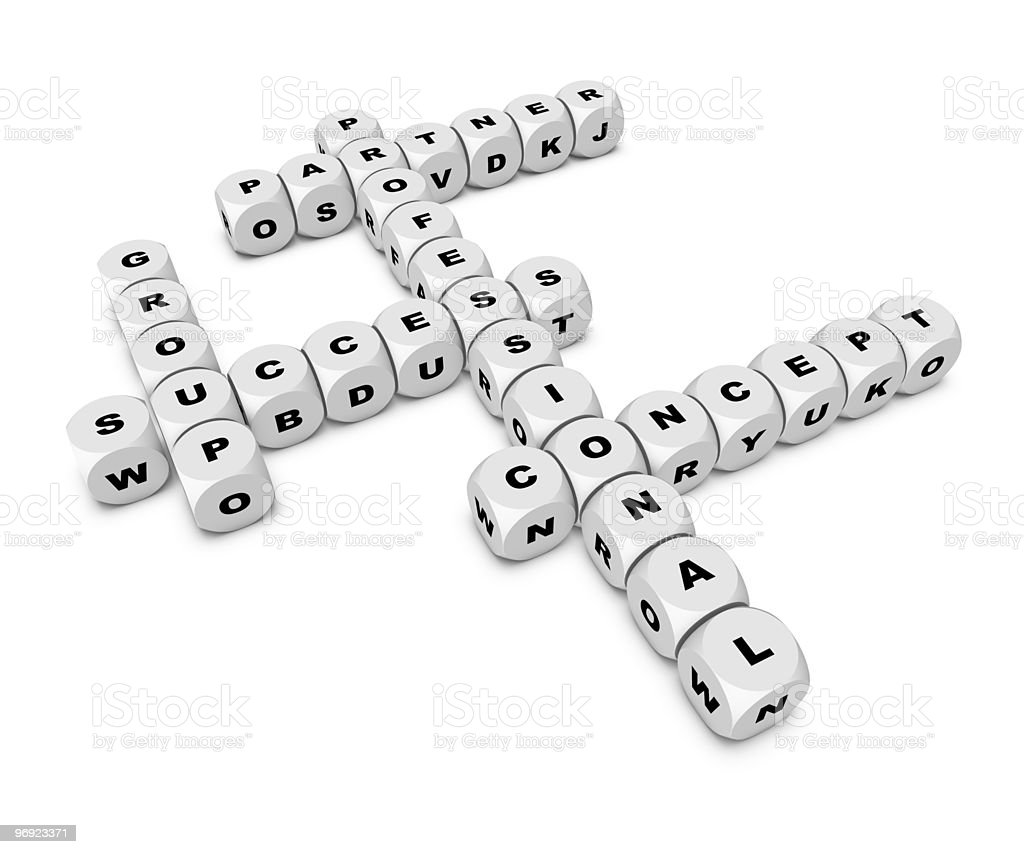 crosswords royalty-free stock photo