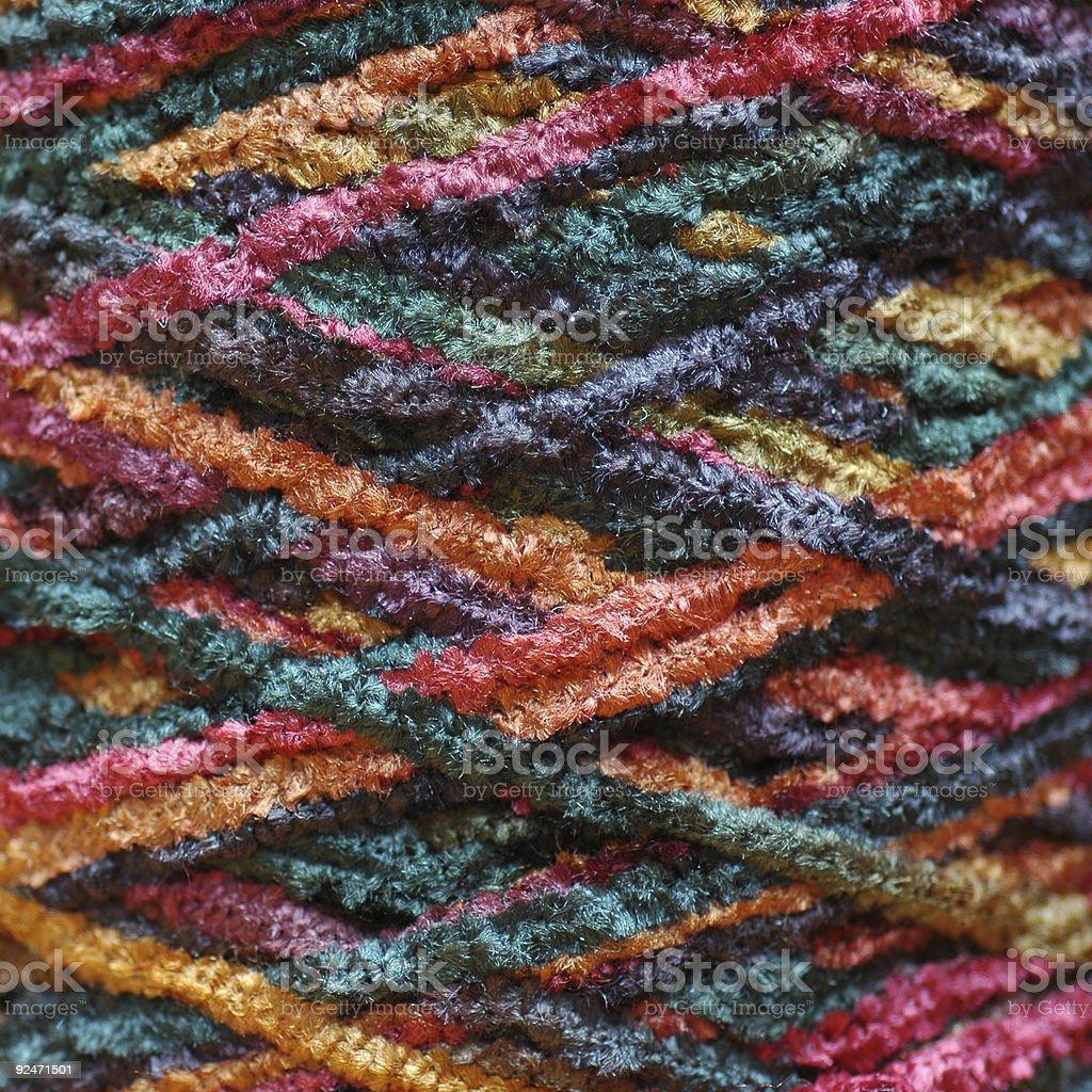 cross-wound chenille yarn royalty-free stock photo