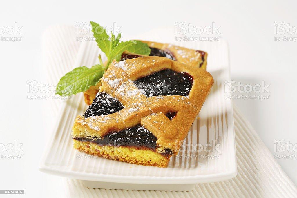 Crostata, Italian homemade tart on a plate royalty-free stock photo