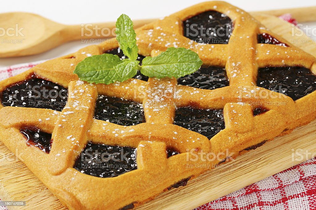 Crostata, Italian homemade tart royalty-free stock photo