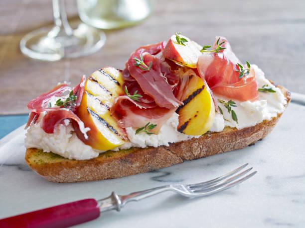 cucina-이탈리아식 - 브루스케타 뉴스 사진 이미지