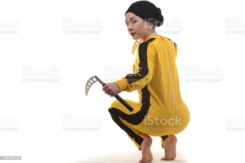 Crouching Kama stock photo