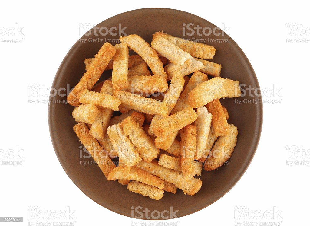 Crouton bread royalty-free stock photo