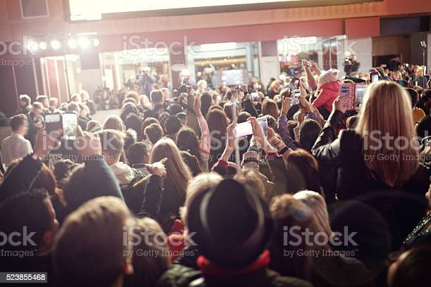 Photo of Crowd and fans at red carpet film premiere