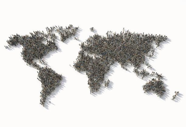 Masse als Weltkarte – Foto