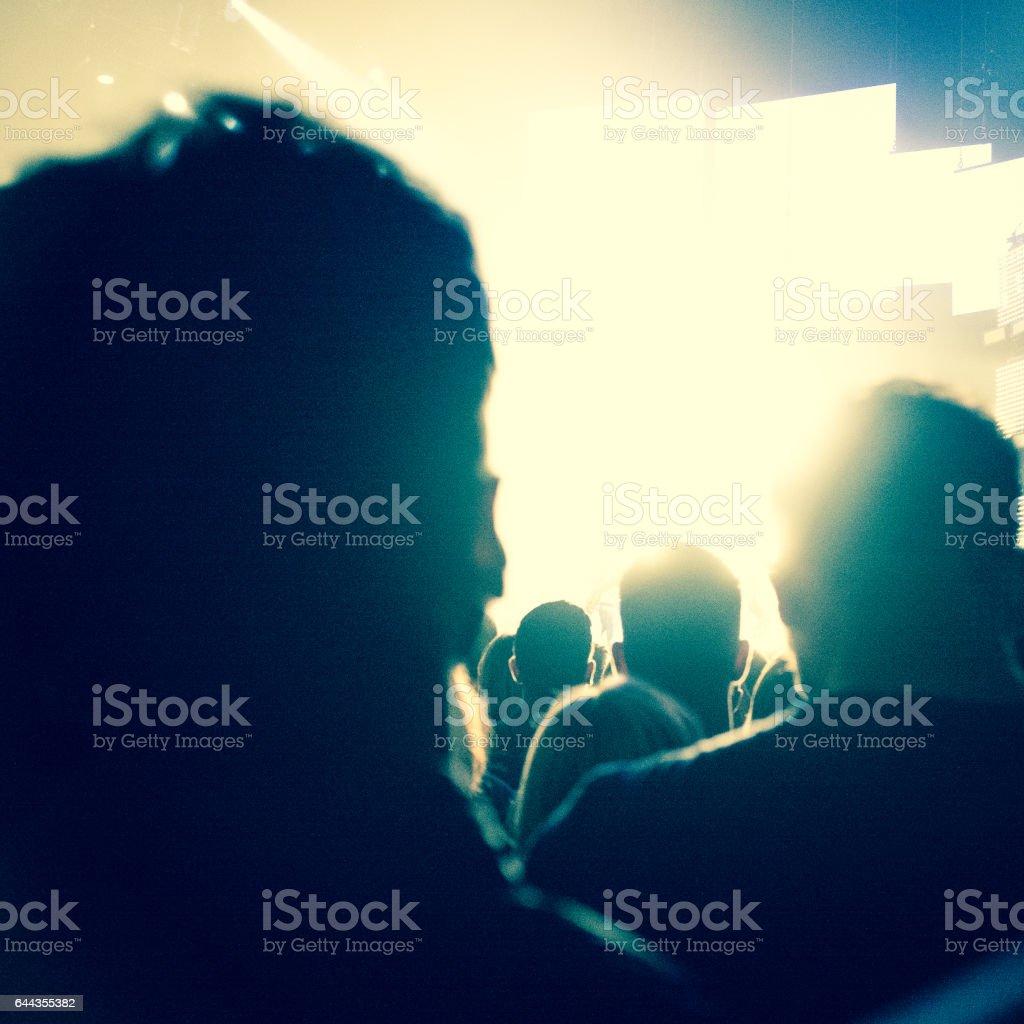 Crowd Assembling stock photo