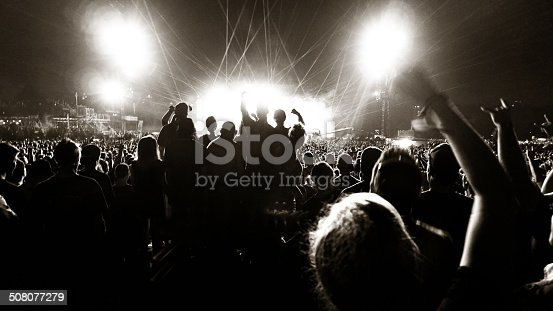 Music concert and crowd. Shot at 1600 iso, grainy…. still print very well