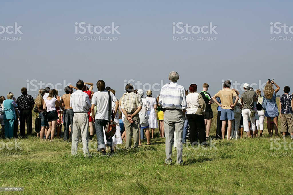 Crowd at Air Show stock photo