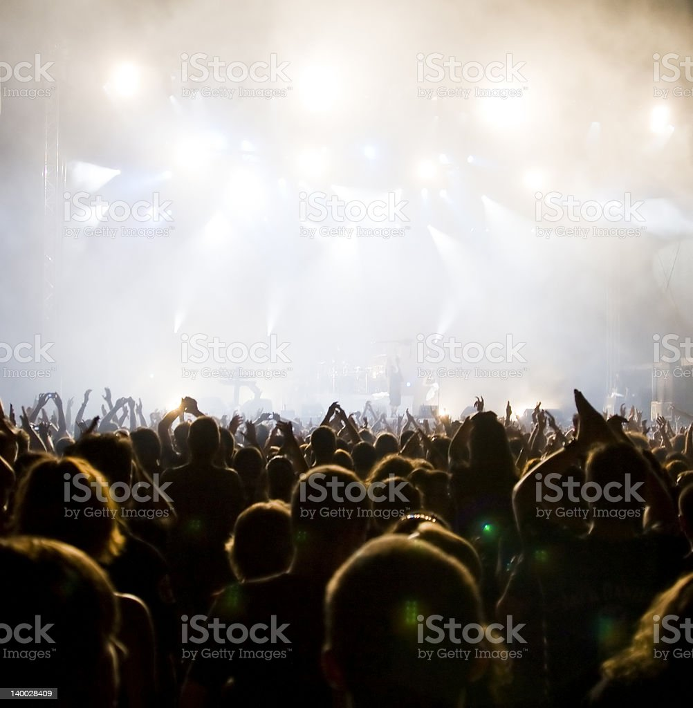 Crowd at concert - Royalty-free Adulation Stock Photo