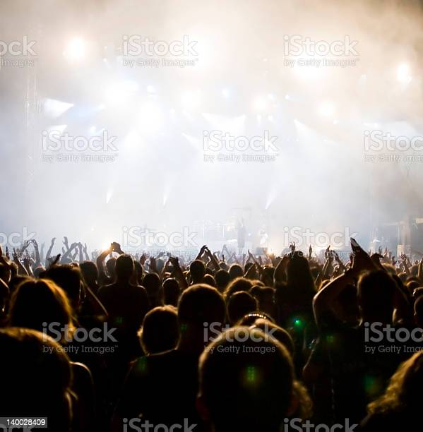 Crowd At Concert Stock Photo - Download Image Now