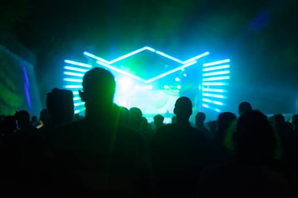 Publikum beim Konzert. Techno-Party. – Foto