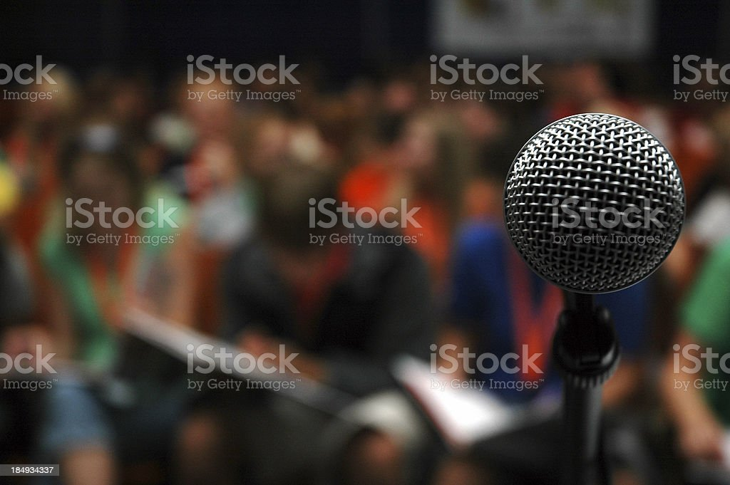 Crowd - Audience & Microphone royalty-free stock photo