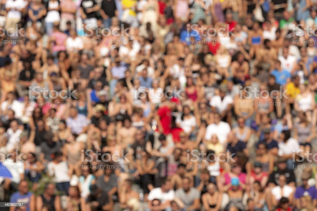 Crowd Background royalty-free stock photo
