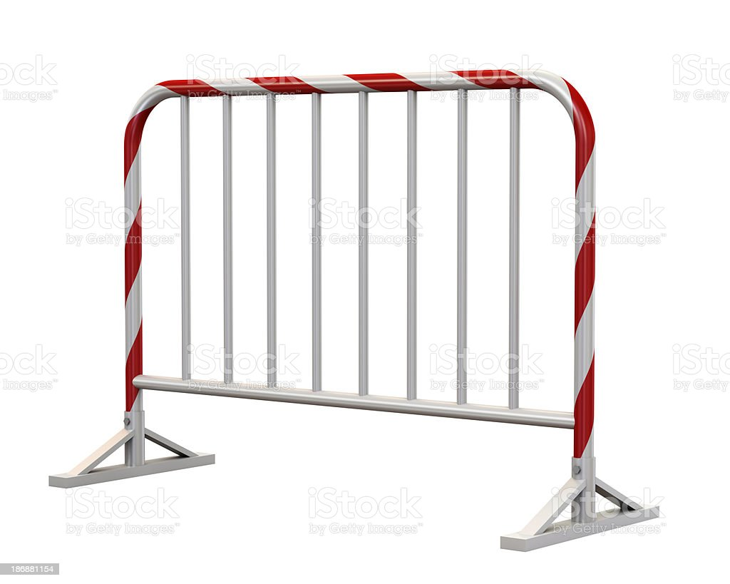Crowd barrier royalty-free stock photo