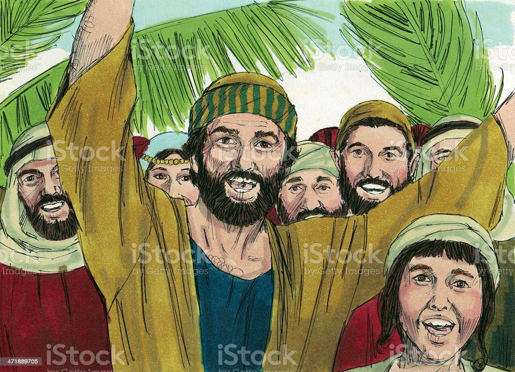 Crowd Celebrates Jesus royalty-free stock photo