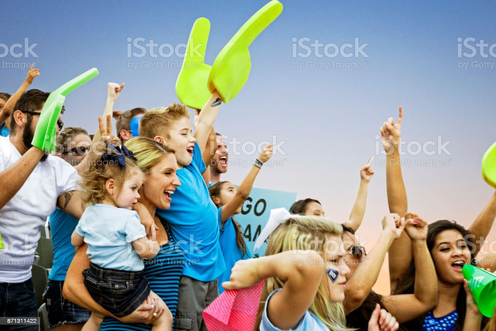 Crowd Cheering stock photo