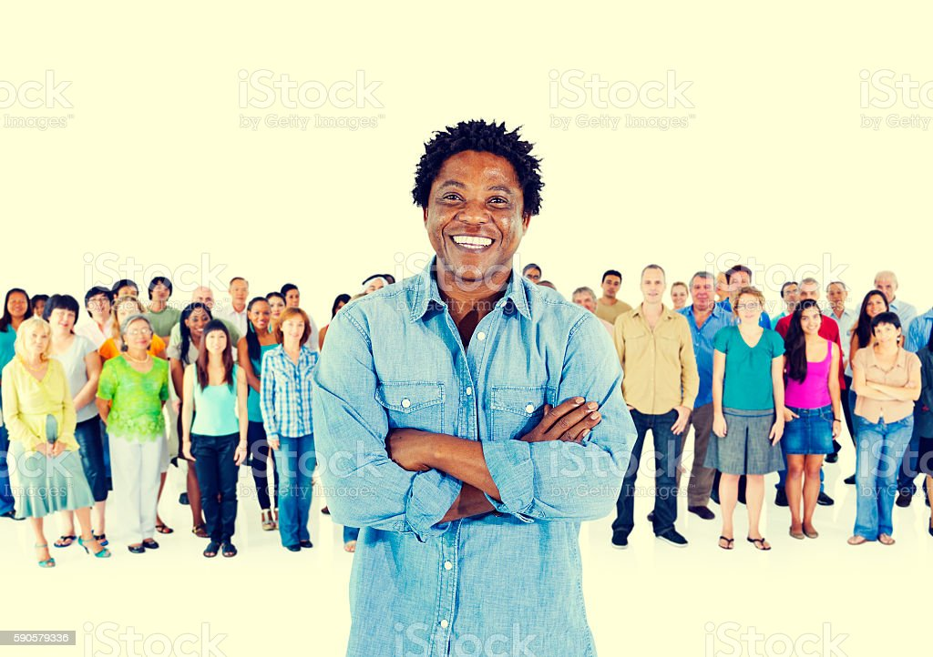 Crowd Community Ethnicity Diverse Variation Concept