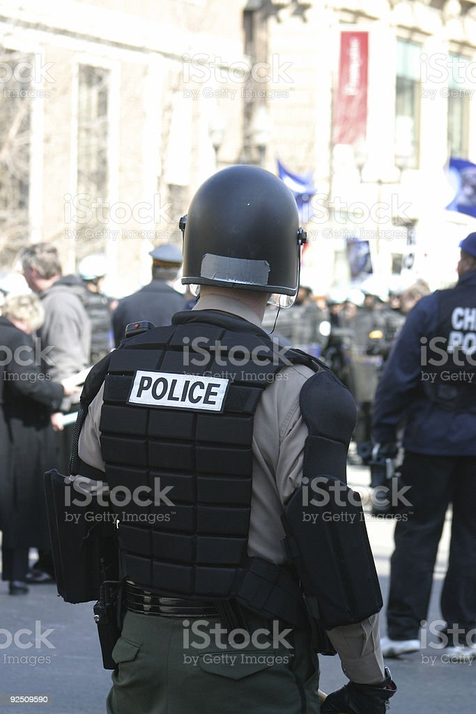 Crowd control 001 royalty-free stock photo