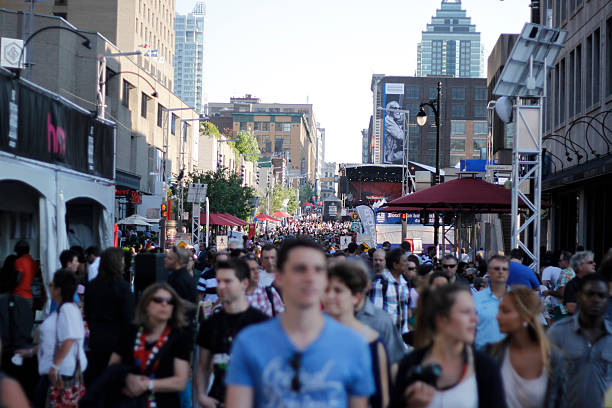 Crowd from Montreal Jazz Festival