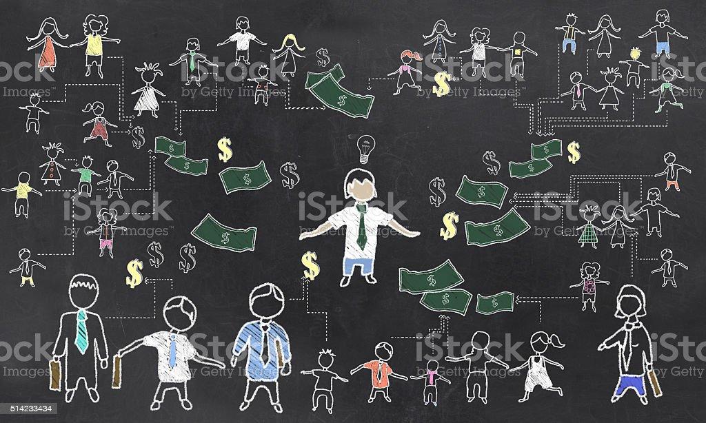 Crowd Funding Illustration stock photo