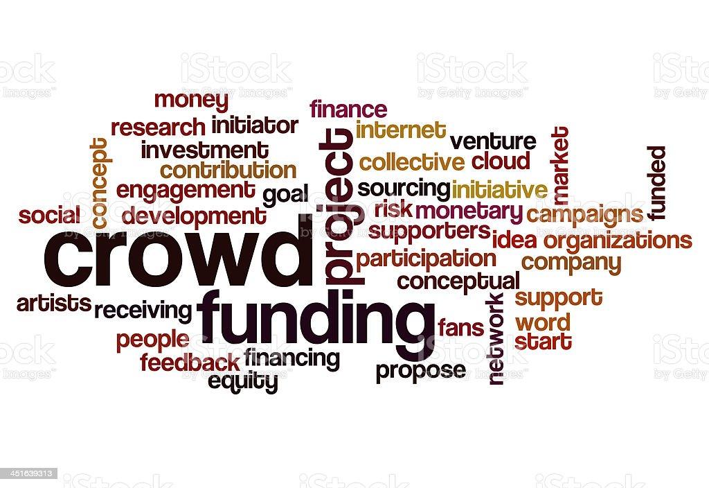 crowd funding word cloud stock photo